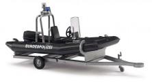 Busch Autos 59952 Anhänger mit Motorboot Polizei