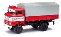 Busch Autos 95249 IFA W50 LA/ PV mit Plane Feuerwehr