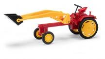 Busch Mehlhose 210004700 Traktor RS 09 mit Schaufel rot/gelb