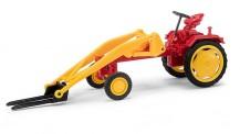 Busch Mehlhose 210004800 Traktor RS 09 mit Gabel rot/gelb