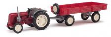 Busch Mehlhose 210006900 Traktor Famulus mit Anhänger rot