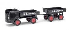 Busch Mehlhose 210008100 Multicar M21 mit Anhänger Kohle