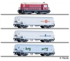 Tillig 01049 DR Güterzug-Set 4-tlg 75 Jahre TT Ep.4