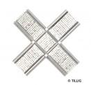 Tillig 87223 Kreuzung Pflastersteine symmetrisch