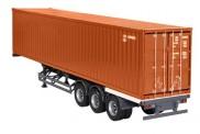 NZG 9791-70 US-Auflieger mit 40ft Container braun
