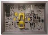 CMC A-024 Ferrari 250 GTO Bauteile-Display, gelb