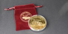 CMC S-014 25 Jahre CMC - Jubiläumsmünze vergoldet