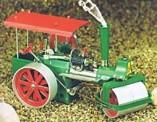 Wilesco 00375 D375 Bausatz Dampfwalze grün