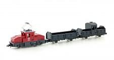 Kato 10504-1 Güterzug 3-tlg. E-Lok & 2 offenen Wagen