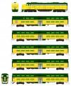 "Kato USA 106104DCC C&NW Personenzug ""400"" 6-tlg. Ep.3"