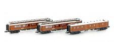 Hobbytrain 22104 CIWL Personenwagen-Set 3-tlg Ep.1