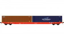 Hobbytrain 23102 RCA Containerwagen Sggnss'80 Ep.6