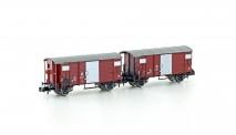 Hobbytrain 24201 SBB gedeckte Güterwagen-Set 2-tlg Ep.3