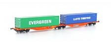 Hobbytrain 70502 Wascosa Containerwagen 6-achs Ep.6