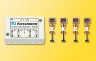 Viessmann 5800 Andreaskreuze, 4 St. mit Blinkelektronik