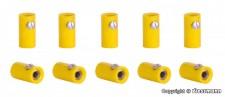 Viessmann 6879 10 Muffen, gelb