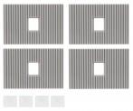 Faller 180888 4 Dachelemente mit Oberlichte