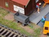 Faller 180990 2 Bahnsteigwagen grau