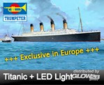 Trumpeter 753719 RMS Titanic +LED Lights Europa Exclusive
