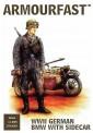 HäT - Hat Toy Soldiers 8126 Deutsche Soldaten & BMW Motorrad