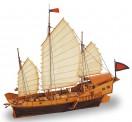 Artesania Latina 908020 Roter Drache, Chinesische Dschunke