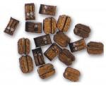 Artesania Latina 908525 Doppel-Block, Walnuss, 4 mm