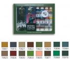 Vallejo 70114 Set: Deutsche Tarnfarben WWII, 8-tlg