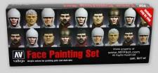 Vallejo 70119 Set: Gesichtsfarben, 8 x 17 ml