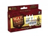Vallejo 70153 Set: Wargame Britische Farben, 6 x 17 ml