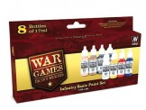 Vallejo 70156 Set: Infanterie Basis-Farben, 6 x 17 ml