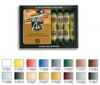 Vallejo 71178 Set: Basisfarben, 16 x 17 ml