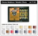 Vallejo 71181 Set: Metall-Effekte, 16 x 17 ml