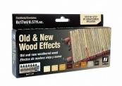 Vallejo 71187 Set: Alt/Neu Effekt Holz, 8 x 17 ml