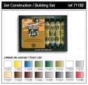 Vallejo 71192 Set: Gebäude-Farben, 16 x 17 ml