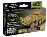 Vallejo 71212 Farbset, MERDC Wüstentarnung US Armee