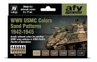 Vallejo 71624 Farbset: WWII USMC Sand Tarnung 6x17ml