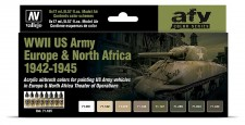 Vallejo 71625 Farbset: WWII US Army Europa&Nordafrika