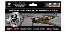 Vallejo 71626 Farbset: WWII Armee de l'Air 8x 17ml