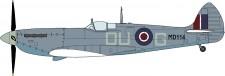Hasegawa 607321 Spitfire MK VII/VIII Pointed Wing