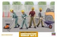 Hasegawa 666003 Bauarbeiter im Straßenbau - Set 4Figuren