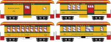 Athearn 12401 ATSF 34' Overton Personenwagens Set