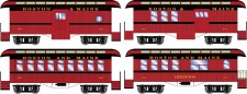 Athearn 12403 BM 34' Overton Personenwagens Set