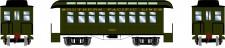Athearn 12406 SP 34' Overton Personenwagens