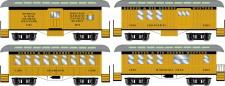 Athearn 12411 DRGW 34' Overton Personenwagens Set
