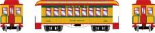 Athearn 16371 ATSF 34' Overton Personenwagens