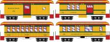 Athearn 16372 ATSF 34' Overton Personenwagens Set