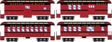 Athearn 16374 BM 34' Overton Personenwagens Set