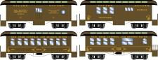 Athearn 16376 NYC 34' Overton Personenwagens Set
