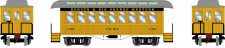 Athearn 16381 DRGW 34' Overton Personenwagens