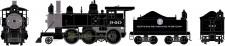 Athearn 87212 DRGW Dampflok 2-6-0 Mogul DCC ready